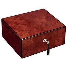 Diamond Crown Windsor Small Cigar Humidor - Holds up to 40 Cigars