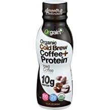 Orgain - Organic Ready to Drink Cold Brew Coffee + Protein Iced Coffee - 12 Pack
