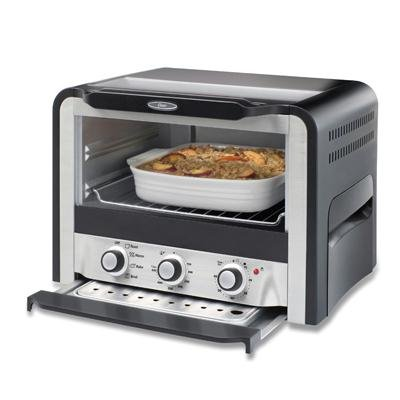 Oster 6071 6 Slice Toaster Oven Black Silver