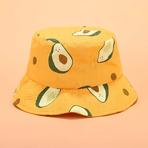 TOOGOO Small Fresh Literary Avocado Fisherman Hat Unisex Summer Outdoor Travel Visor Bucket Hat Beanies Navy Blue