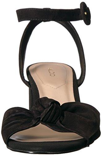 Aldo Frauen Sandalen mit Absatz schwarzes Nubukleder