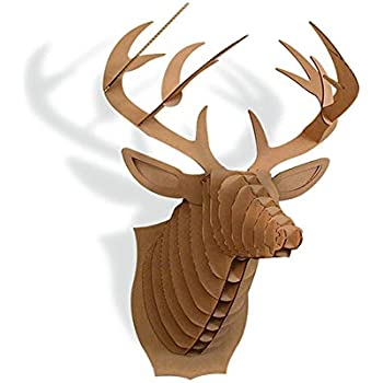 Amazon Paper Maker Cardboard 3D Deer Head Wall Decoration Art