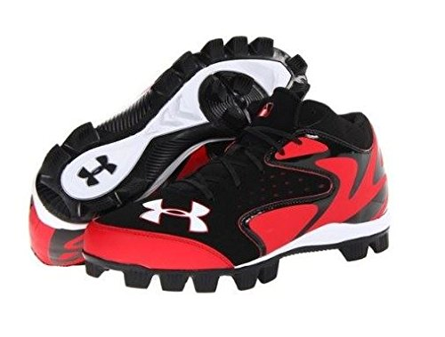 Under Armour Leadoff Mid Jr Black/Red 4