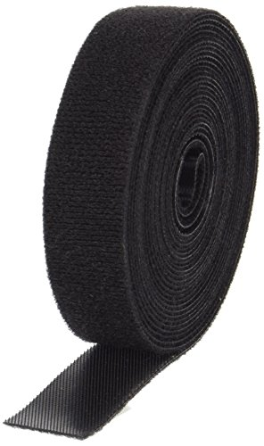 (VELCRO 1803-OW-PB/B Black Nylon Onewrap Velcro Strap, Hook and Loop, 3/4