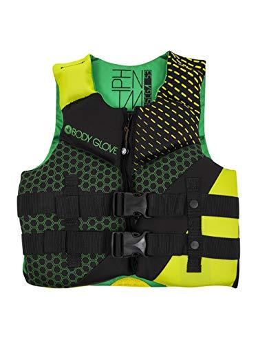- Body Glove Phantom Youth PFD Life Vest - USCGA Approved Green-Lime