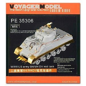 (Voyager Model KNL Hobby Photo-Etched Sheets Parts The Best Upgrade Solution PE35306 M4/M4DV Sherman Upgrade with a Metal Etching Tank)