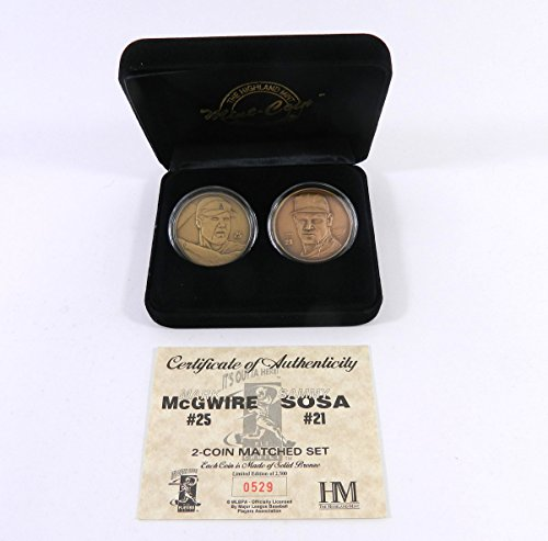 Highland Mint Mark McGwire/Sammy Sosa Bronze 2 Coin Set # out of 2,500