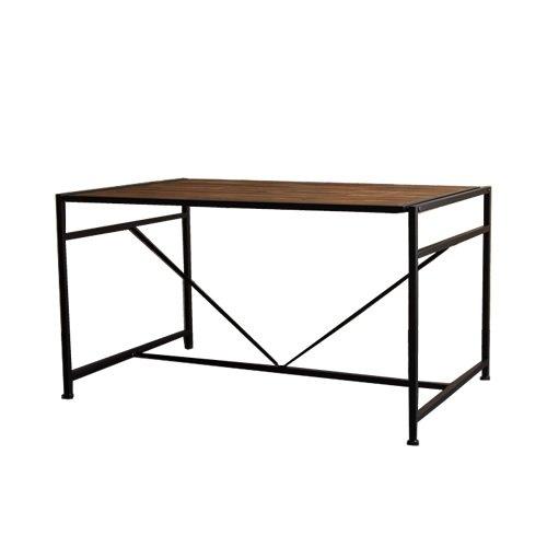 ブラック/ダイニングテーブル ロータイプ レトロモダン 天然木 オイル塗装 シンプル スマート ナチュラル B078JQ46Y6ブラック