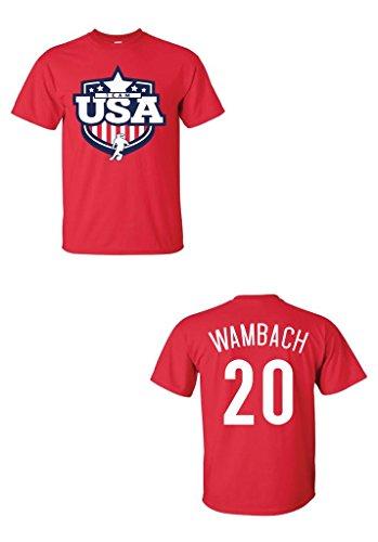 Team USA Abby Wambach T-Shirt S RED ()