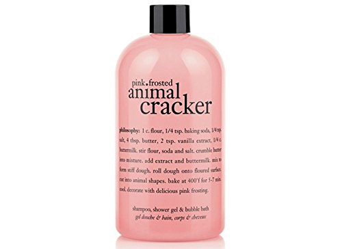Philosophy Pink Frosted Animal Cracker 3-in-1 Shampoo, Shower Gel and Bubble Bath - 16 Oz by Illuminations