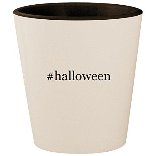 (#halloween - Hashtag White Outer & Black Inner Ceramic 1.5oz Shot)