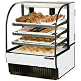 Curved Glass Non-Refrigerated Bakery Case True Refrigeration TCGD-36 (Each)