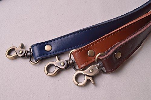 [해외]Wento Pair 24 '정품 가죽 지갑 스트랩, Lobster Hook 내부 크기 0.3' ', 진짜 가죽 바느질 캔버스 백 핸들, 교체 지갑 스트랩, 하/Wento Pair 24`` Genuine Leather Purses Straps,Lobster Hook inner size 0.3``,Real Leather Sewing ...