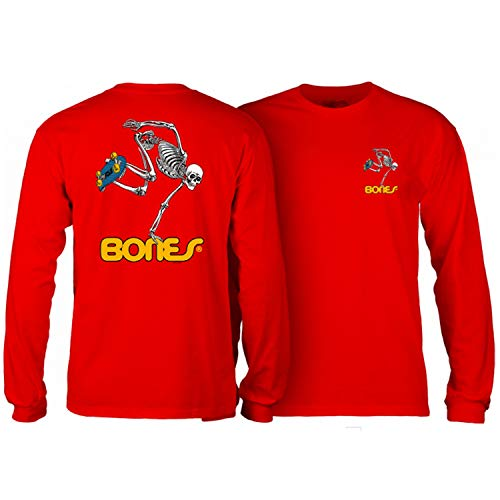Powell-Peralta Skateboard Long Sleeve Shirt Skateboard Skeleton Red Size M