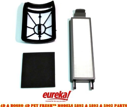 Filter Upright Secondary (Eureka 4D Boss, Pet Fresh Bagless Upright Filter Kit. Fits 5892AVZ, 5892BVZ, 5893AVZ, 5893BVZ, 5902AVZ, 5902BVZ)
