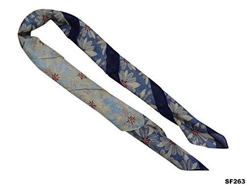 Longue Mélange de Coton Stole Floral Design Femmes Indian Casual Wear Écharpe Gift For Her