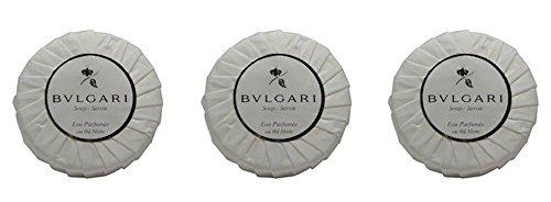 Bvlgari/Bulgari Au the Blanc (White Tea) Pleated Soaps - Set of 3, 150 gm/5.3 oz - Buy Bulgari