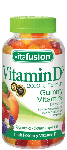 Vitafusion vitamine vitamines D3 Gummy, 150 Count