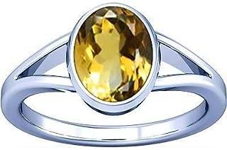 Divya Shakti 3.25–3.50carati citrino/Topazio dorato anello in argento anello di pietra (Sunhela) 100% originale & pietra preziosa naturale AAA qualità