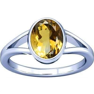 Divya Shakti 3.25–3.50carati citrino/Topazio dorato anello in argento anello di pietra (Sunhela) 100% originale & pietra preziosa naturale AAA qualità Ramneek jewels NV0407CRS-1