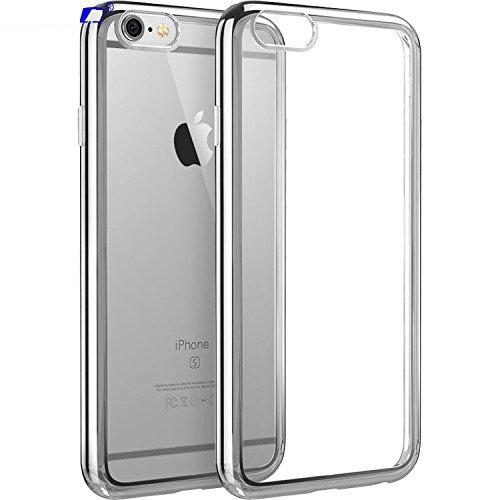 Lnkey Shop Cover iPhone 7 Plus, iPhone 7 5.5 Inch Custodia Bumper Case Cover Chiaro Cristallo Ultra-Sottile Slim fit Trasparente Placcatura TPU Silicone Antigraffio Custodia per iPhone 7 Plus 5.5-Oro