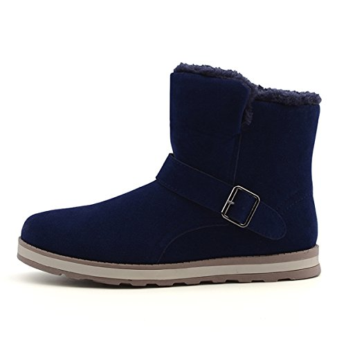 Men's Suede Fully Fur Lined Winter Snow Boots