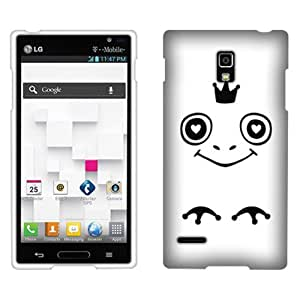 Fincibo (TM) Protector Cover Case Snap On Hard Plastic Front And Back For LG Optimus L9 P769 - Love Prince Frog