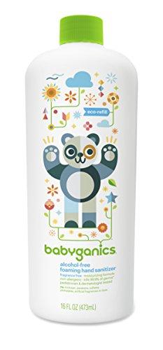 Babyganics Alcohol-Free Foaming Hand Sanitizer Refill, Fragrance Free, 16oz Bottle