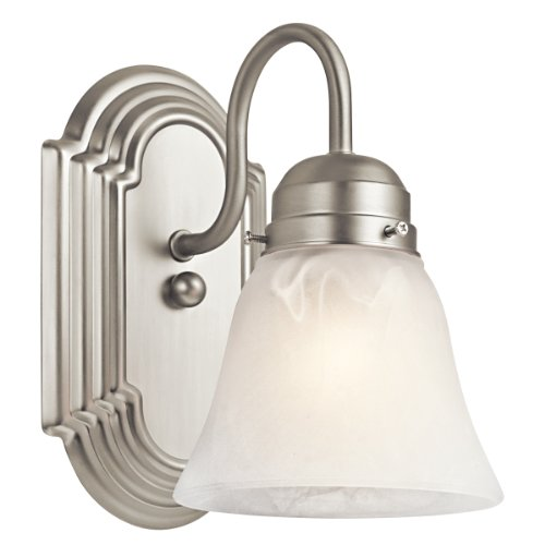Kichler 5334NI One Light Wall Sconce (Alabaster Glass Single Shade)