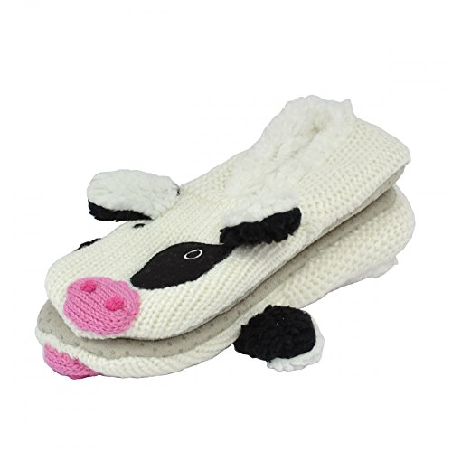 CHAUSSONS DE TAILLE COSY PaIRE ANIMAL VACHE 37 TOES W1xqXUv