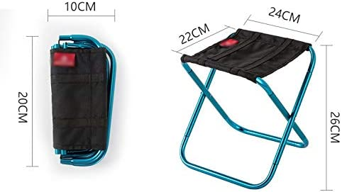 WZHZJ Extérieur Chaises Pliantes Lumière Leurre Camping Barbecue Alignés Sketch Mesh Respirant Pliant Tabouret avec Sac