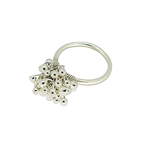 Studio Dots Womens Sterling Silver Seeds Ring, Size 7 (7 Dots Studio)