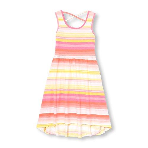 The Children's Place Girls' Big Sleeveless Casual Dress, Pale Petal 6521, XS (4)