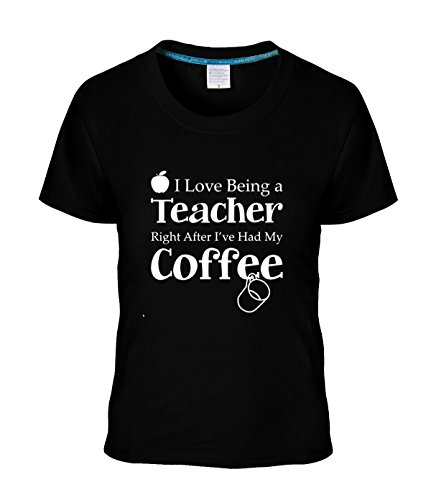 Beatles Rock Women's T-shirt Geek Teacher Gift Love Right After I've Had my Coffee tshirt ()