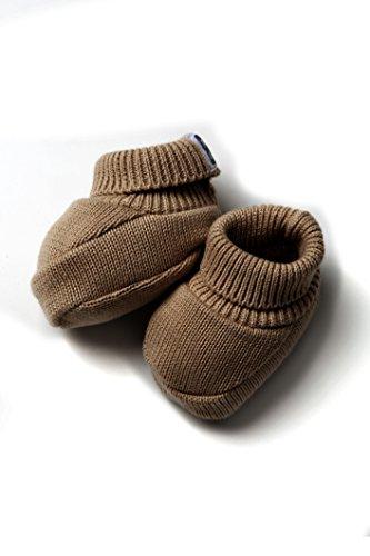Patucos de Punto 100% algodón para Bebé Color Chocolate - Minutus