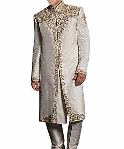 INMONARCH Mens Stylish Wedding Party wear Churidar Sherwani SH196 36R Gainsboro