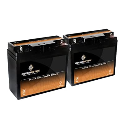 12V 20AH SLA Battery for Pride Mobility Go-Go Elite - 2PK