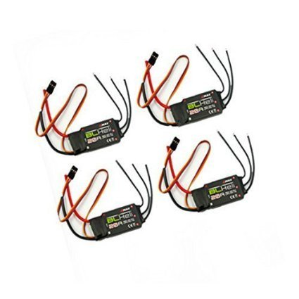 4pcs Emax 20a Blheli ESC 2a 5v Bec Speed Controller for Rc 250 Qav250 Quadcopter Multicopters