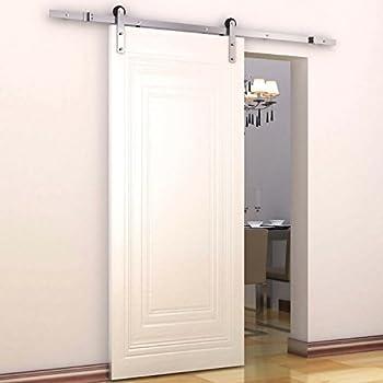 Amazon.com: HomCom Modern 6\' Interior Sliding Barn Door Kit ...