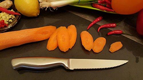 Ashlar Steak Knives Set of 4 Serrated Stainless Steel Dishwasher Safe Ideal Family Dinner Kitchen Set Full Edge Serration Rust Resistant by Ashlar (Image #3)