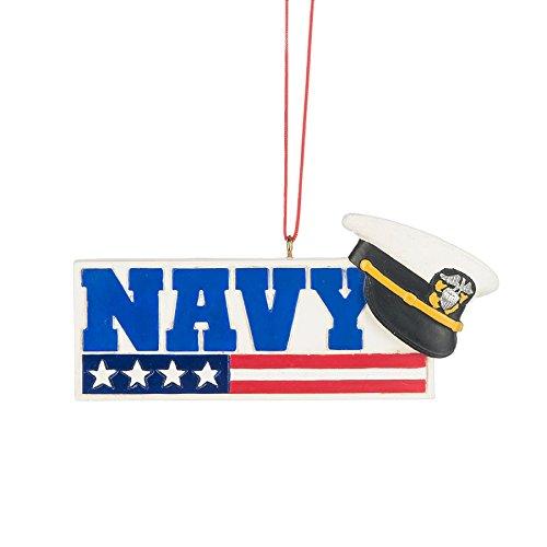 US Navy Service Uniform Cap Sign Resin Stone Christmas Ornament