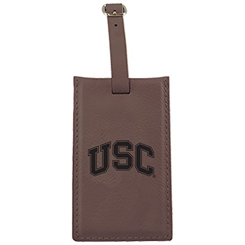 LXG, Inc. University of Southern California-Leatherette Luggage Tag-Brown by LXG, Inc.