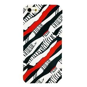 JOE Punk Colorful Zebra Stripe Pattern TPU Soft Case for iPhone 4/4S , Multicolor