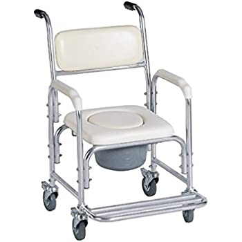rehab commode aluminum back shower chair to with list wheels