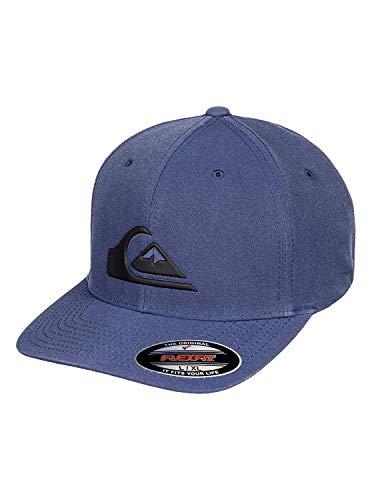 (Quiksilver Men's AMPHIBIANO STRTCH FIT HAT, Dark Denim Heather, S/M)