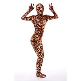 - 41tvNF7FSBL - Nedal Women's Tiger Costume Halloween Zentai Lycra Spandex Bodysuit Animal