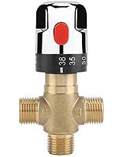 Solid Messing G1 / 2 Thermostatisches Mischventil für Dusche System Wassertemperaturregelung Rohr Becken Thermostat Control