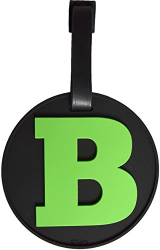 Luggage Tag Initial Letter Bag Tag Alphabet 3-D Personalized Reinforced Bendable Heavy Duty ID Tag W/ Identity Protection (B (green))