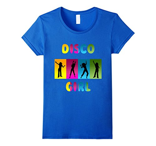 [Womens Disco Dancers Shirt 60s 70s 80s Retro Vintage T Shirt Small Royal Blue] (70s Look For Women)