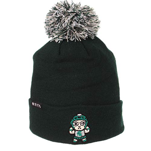 - ZHATS NCAA Michigan State Spartans Unisex Sapporosapporo Knit - Tokyodachi Collection, Forest Green, One Size